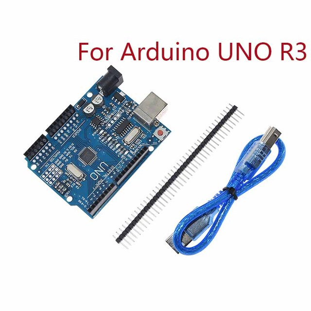 Voor Arduino Uno R3 CH340G MEGA328P Chip 16Mhz ATMEGA328P AU Development Board Geïntegreerde Schakelingen Kit Originele Case + Usb Kabel