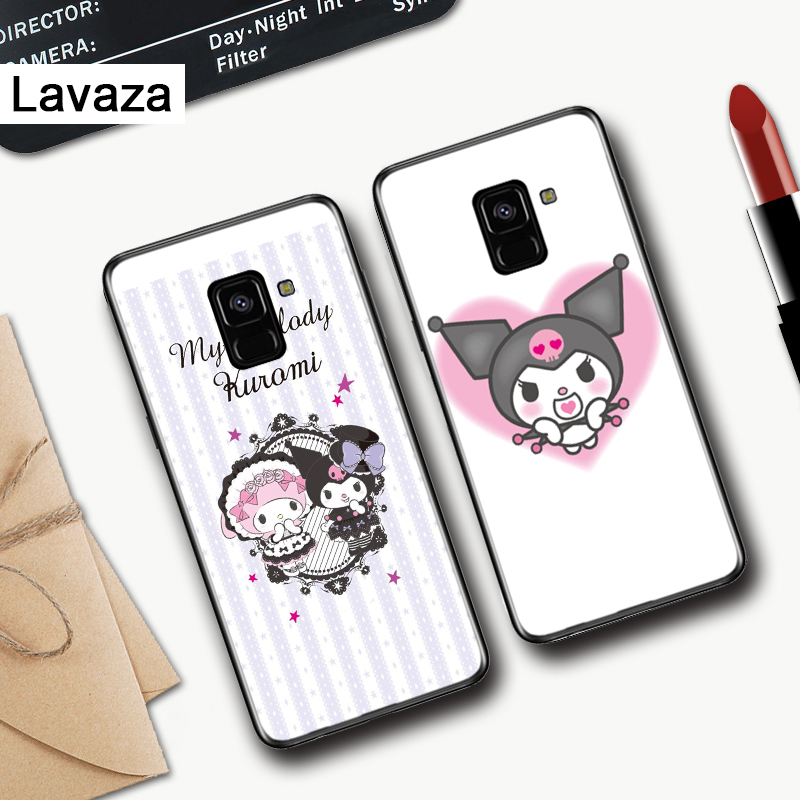 Lavaza Kuromi Colorful Cute Silicone Case for Samsung A3 A5 A6 Plus A7 A8 A9 A10 A30 A40 A50 A70 J6 A10S A30S A50S in Fitted Cases from Cellphones Telecommunications