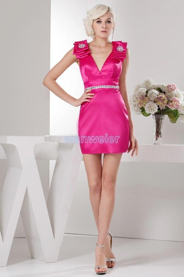 free shipping 2016 design hot elegant plus size v-neck formal brides maid beading cap sleeve custom size short   Cocktail     Dress