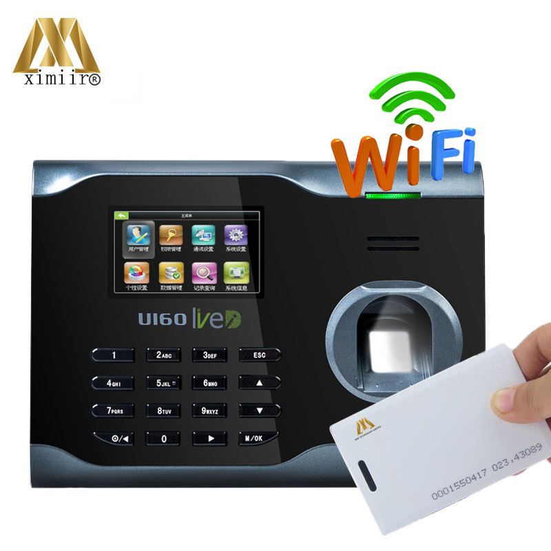 U160 Fingerprint Time Attendance With 125KHZ RFID Card Reader WIFI TCP/IP Fingerprint Reader Time Clock Biometric Time Recorder