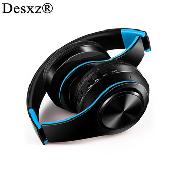 Desxz Wireless Bluetooth Earphones Headset Stereo Headphones Earphones with Microphone TF Card for Mobile Phone Music