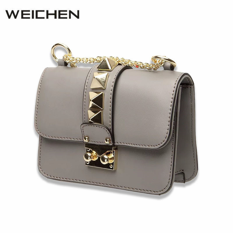 Small Shoulder Bag Female Crossbody Messenger Split Leather Women Crossbody Bag With Chain Gray Mini Handbags Bolsas Feminina mini gray shaggy deer pvc quilted chain bag with cover real picture