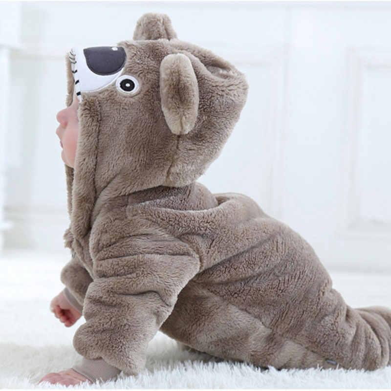 Детский комбинезон для маленьких мальчиков и девочек, костюм коалы Kawaii, милый теплый комбинезон для новорожденных, комбинезон с животными, зимняя одежда, пижама кигуруми