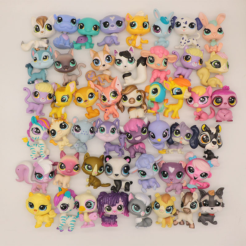 5/10/20 Pcs LPS PVC Toys Figure Different Style Mini Pet Cat Action Figure LPS Cat Toys Random Send Different(China)