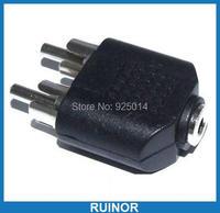 50PCS 3 5MM Female To 2 Male RCA Socket Audio Splitter Converter Video Audio