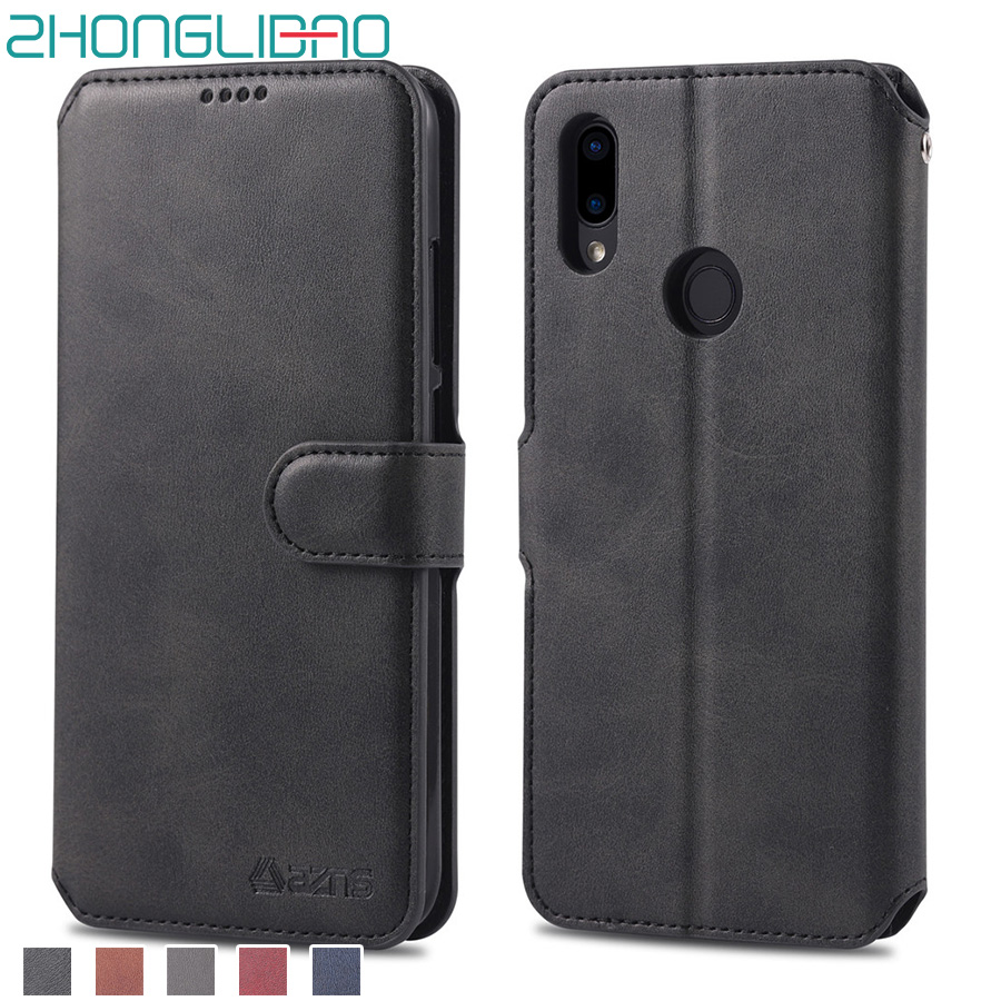 Leather Flip Wallet Cover for <font><b>Xiaomi</b></font> Redmi <font><b>Note</b></font> <font><b>7</b></font> Phone Case for Mi Redmi <font><b>Note</b></font> <font><b>7</b></font> Pro Note7 Card Holder Funda Original Global image