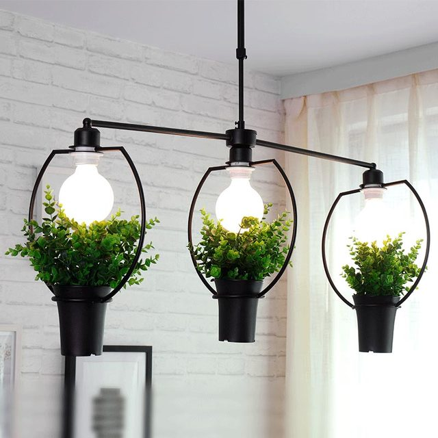 Modern Pendant Light Living Room Restaurant Plant Decor Hanging Lamp Home Lighting Suspension Luminaire BLP6011