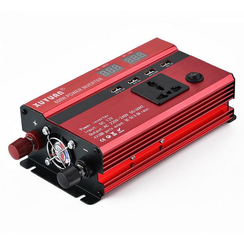 12v DC AC Power Inverter Dual Display Peak Power 600W Inverter Car Charger Adapter Converter Modified Sine Car Power Inverter (12)
