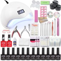 Timistory 36/48W UV LED Lamp Nail Set & 12/36 color acrylic nail kits uv extension gel set kit nail art manicure tools sets kit