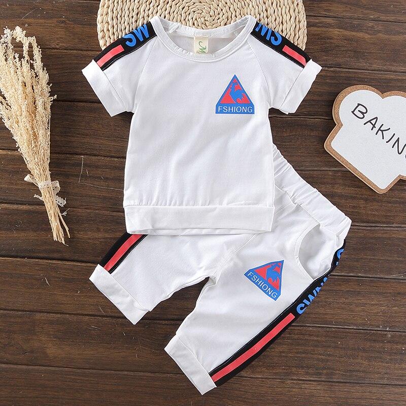 2017 sets de desgaste de los niños ropa de algodón del verano de los niños 1-5 a