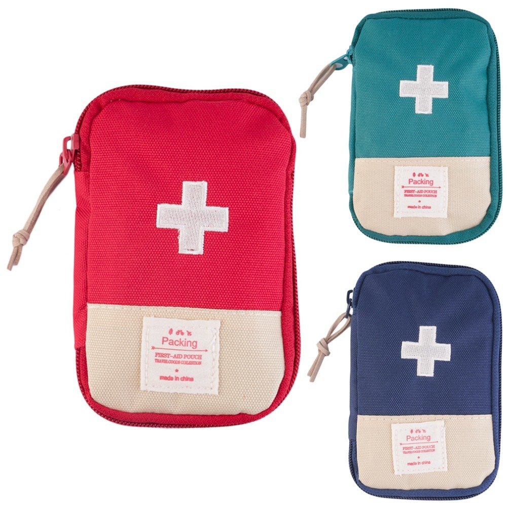 New for Outdoors top Home Survival Portable First Aid Kit bag Case top quality  free shipping eric tyson home buying kit for dummies