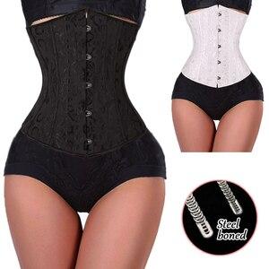 Image 5 - Corset noir pour femmes, ceinture mince, contrôle à la taille, sous le buste, Corset Sexy, grande taille S 6XL