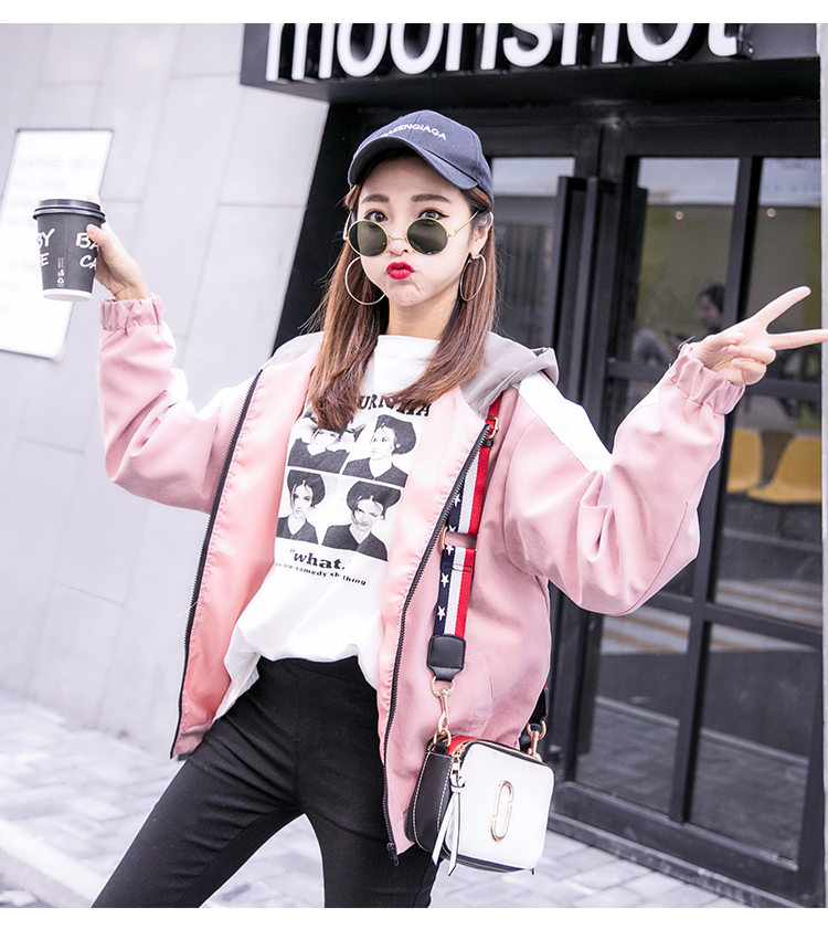 2019 Autumn Jacket Womens Streetwear Patchwork Hooded Totoro Jackets Kawaii Basic Coats harajuku Outerwear chaqueta mujer 54