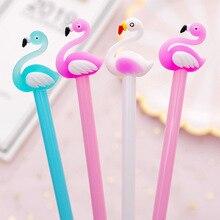 1pcs Cute Beautiful Flamingo swans gel pen Kawaii stationery pens material office school supplies Writing tool 0.38mm