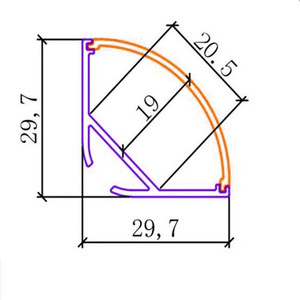 Image 2 - 5 30 stks/partij 40 inch 1 m 45 graden hoek hanger aluminium profiel voor dubbele rij led strip, milky/transparant deksel voor 20mm pcb