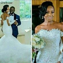 SZWBridal Long Sleeves Mermaid Wedding Dresses Bride Dress