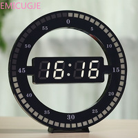 Digital Electronic Wall Clock LED Simple Night Glow Round Home Decoration Minimalist Modern Design LED Wall Clocks