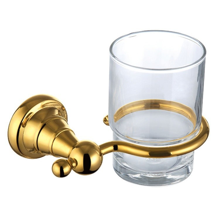 Free Shipping-European Style Luxurious Brass tumbler gold Plating Cup Holder GB001d-1 free shipping brass gold double tumbler holder cup