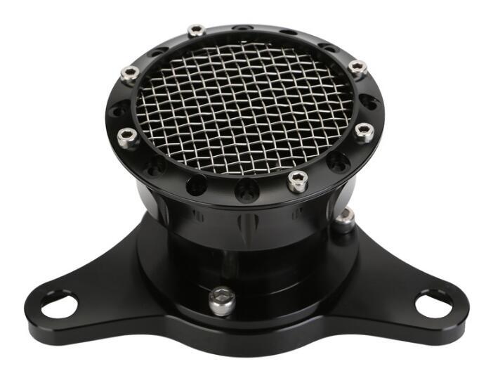 Volocity Stacks Chopper Air Cleaner : Black velocity stack air cleaner intake filter for up