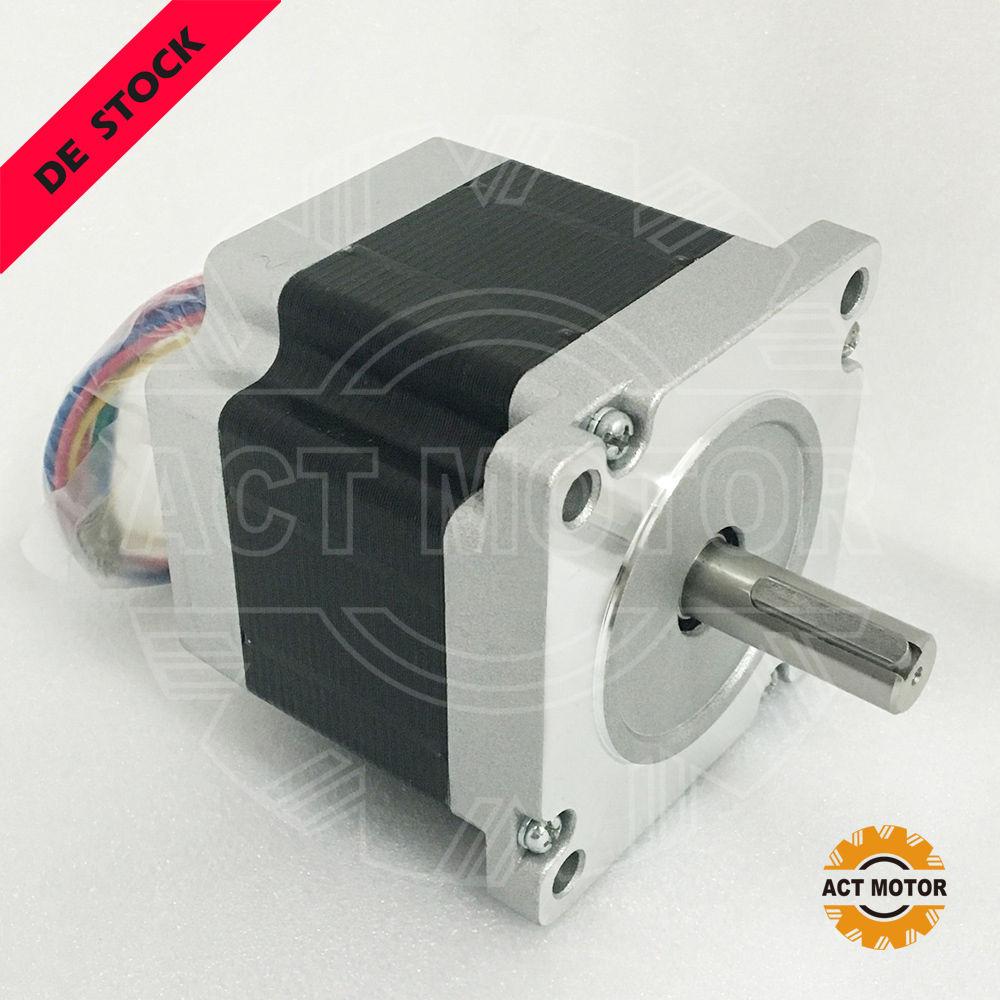 ACT Motor 1 pz Nema34 34HS7440D12. 7L34J5-5 Schrittmotor 4A 78mm 5N macchina Per IncidereACT Motor 1 pz Nema34 34HS7440D12. 7L34J5-5 Schrittmotor 4A 78mm 5N macchina Per Incidere