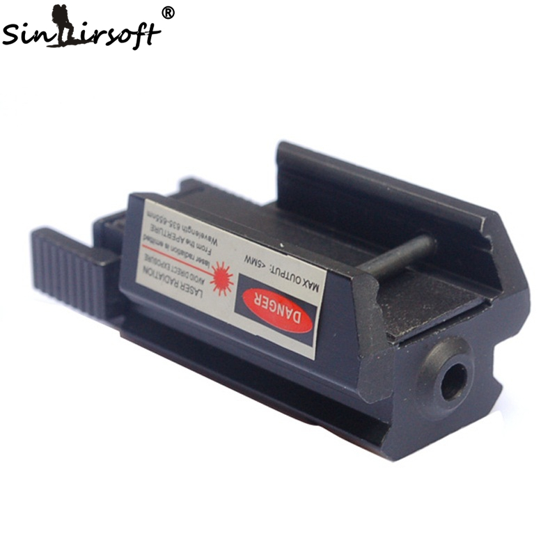 SINAIRSOFT 20mm <font><b>11mm</b></font> Outdoor Sports Hunting Accessories Tactical Red Dot Laser Sight Weaver Rail For Pistol Laser Riflescopes