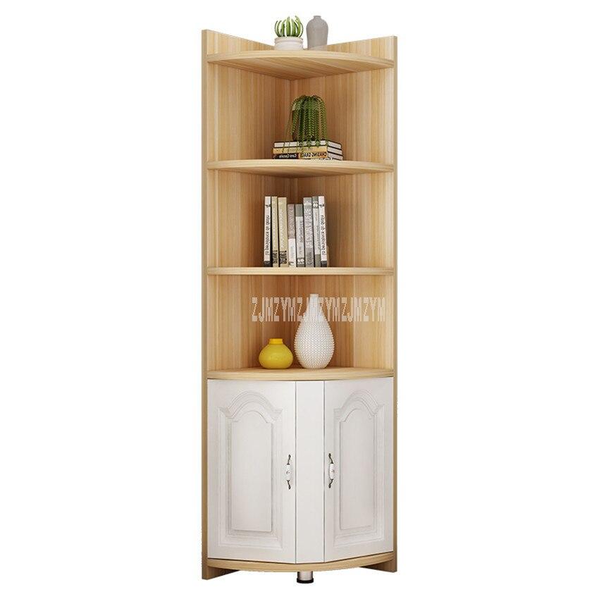 Corner Shelf Storage Cabinet Book Vase