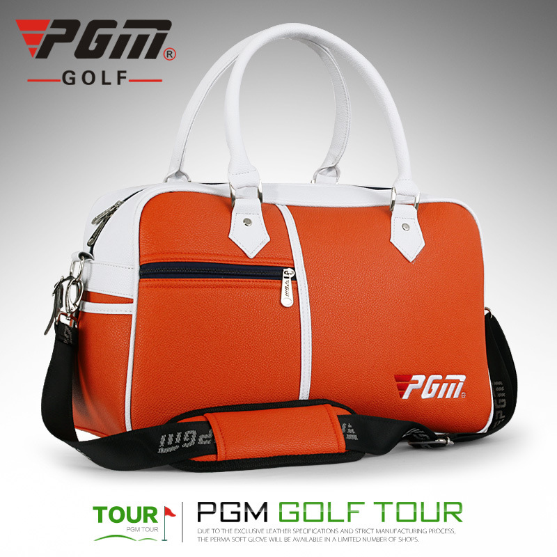 PGM 43*28*22CM  New Golf Clothing Bag PU Ball Bag Large Capacity Clothes Bag A4765 simulation mini golf course display toy set with golf club ball flag