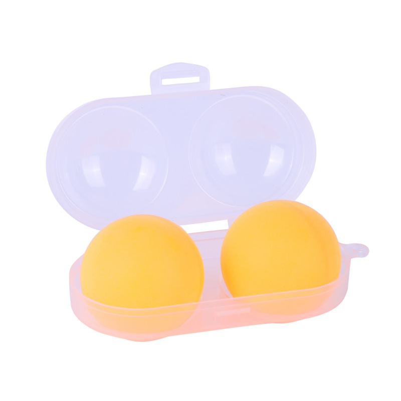 Portable Table Tennis Container For 2 Ping Pong Balls Box PP Plastic Key Chain Tool Ping Pong Storage Case Sports Training