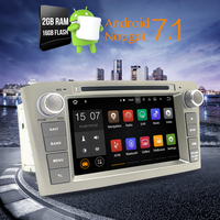 Newest Black 2G RAM Android 7 1 Car DVD Stereo Multimedia Headunit For Toyota Avensis T25