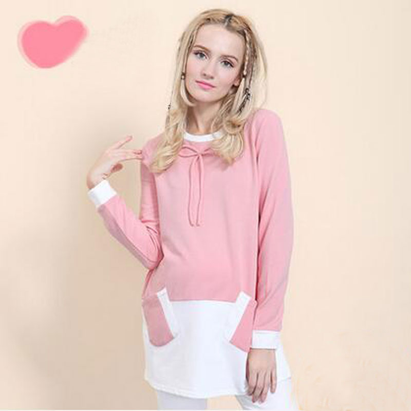 ФОТО Women Love Maternity Hoodie Clothes Tops Sweater Nursing Long Sleeve Pregnancy for Pregnant