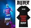 2016 NEW style FOR JUSTIN BIEBER BIGGER THAN SATAN Concert PURPOSE TOUR T-SHIRT GOOD