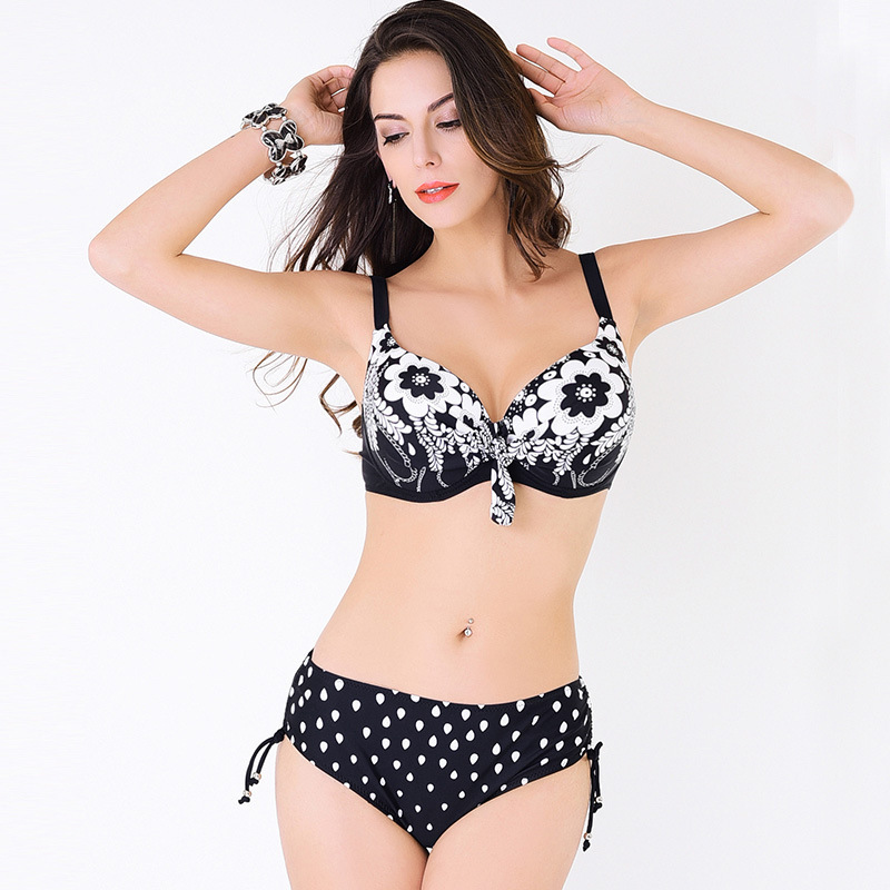 Bikini 2017 Plus Size Swimwear Women Swimsuit High Waist Bathing Suit Push Up Print Bikini Set Beach Wear Swimming L-4XL Bikinis 2016 bikinis women swimwear swimsuit high waist bathing suit plus size swimwear push up bikini set vintage retro beach wear 0639