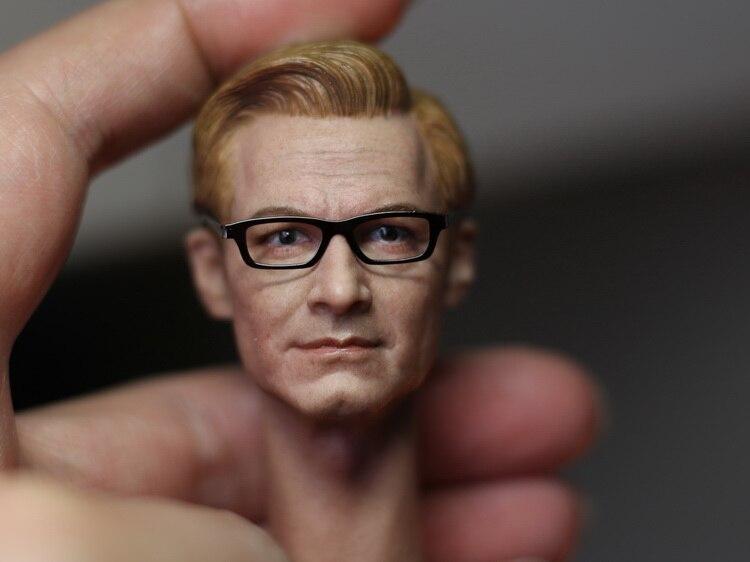 """1/6 스케일 피규어 액세서리 kingsman colin firth head sculpt 12 """"액션 피규어 doll. not 바디, 옷 및 기타 1740-에서액션 & 장난감 숫자부터 완구 & 취미 의  그룹 1"""