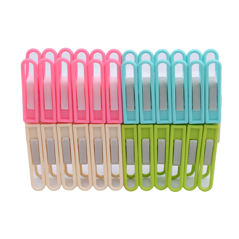24 Pcs Plastic Clothes Pegs Home Travel Portable Hangers Rack Towel Clothespin Socks Underwear Drying Rack Clothes Pegs
