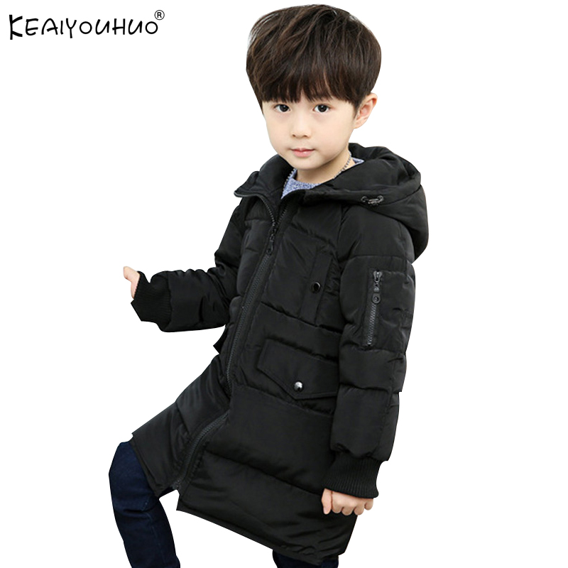 Keaiyouhuo 2017 Высокое качество пальто для мальчиков зимняя одежда теплые куртки для детская верхняя одежда Модная Детская Хлопковая одежда паль...