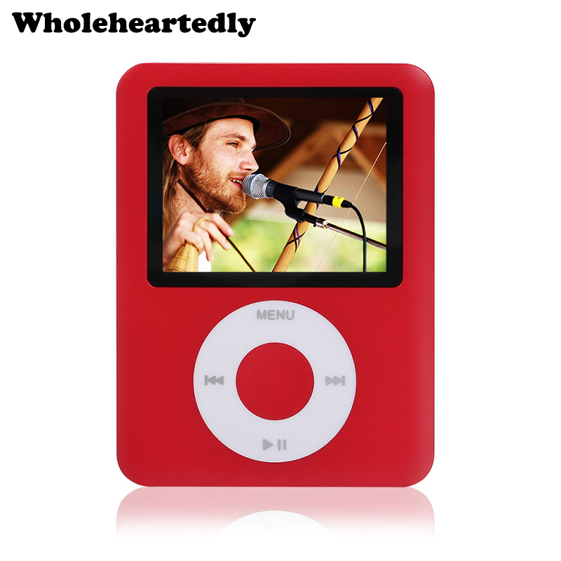 "Hohe Qualität 6 Farbe 1,8 ""Zoll LCD Metall 8 GB MP4 3 Player FM Radio Videospiele Filme Musik Player + Ladekabel + Kopfhörer"