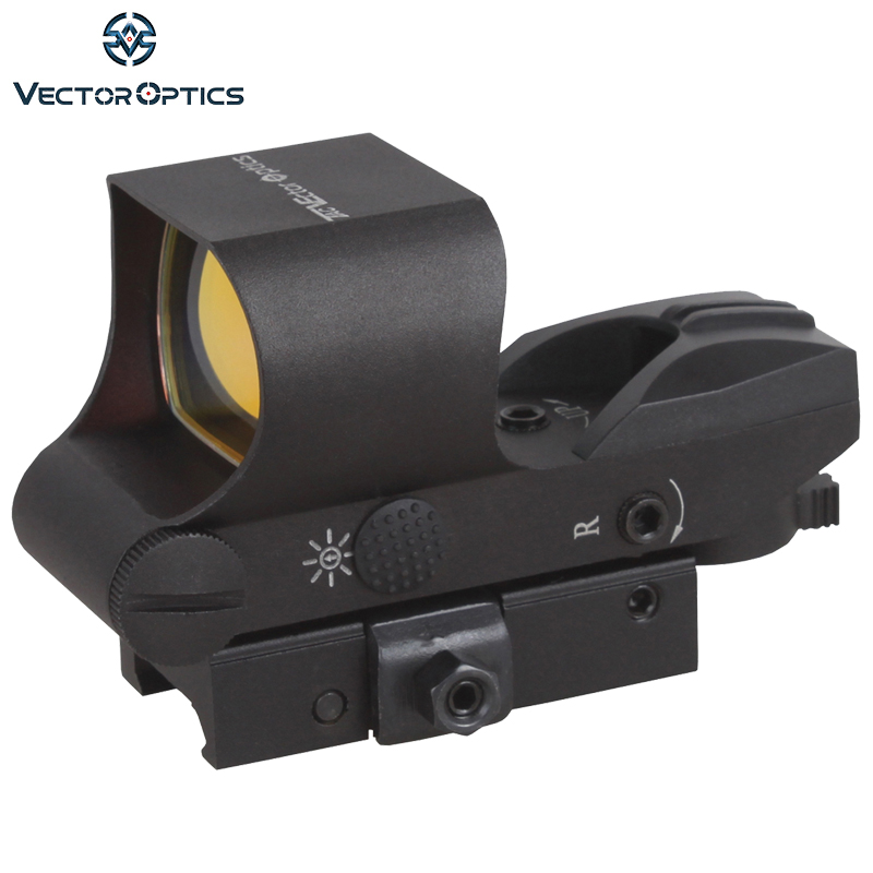 Vector Optics Ravage 1x28x40 Red Dot Rifle Scope 4 Reticle Reflex Sight with 20mm Weaver Base vector optics condor 2x42 red and green dot rifle scope sight with 20mm weaver mount base for hunting 12ga shotgun 22 rifle
