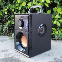 Portable HiFi Stereo Wooden Bluetooth Speaker 2.1 Subwoofer
