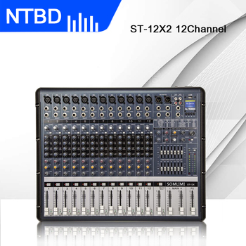 NTBD ST-12X 12 Channel with Effect Balance Professional Mixer and Stage Performance Wireless Microphone
