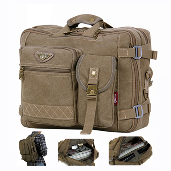 14\' canvas laptop shoulder messenger bags