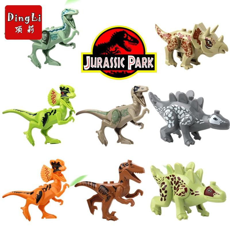 2019 novos 8 pces. Tijolos bloco de construção brinquedo ninjagoinglys conjunto blocos original clássico dinossauro brinquedos para crianças presente