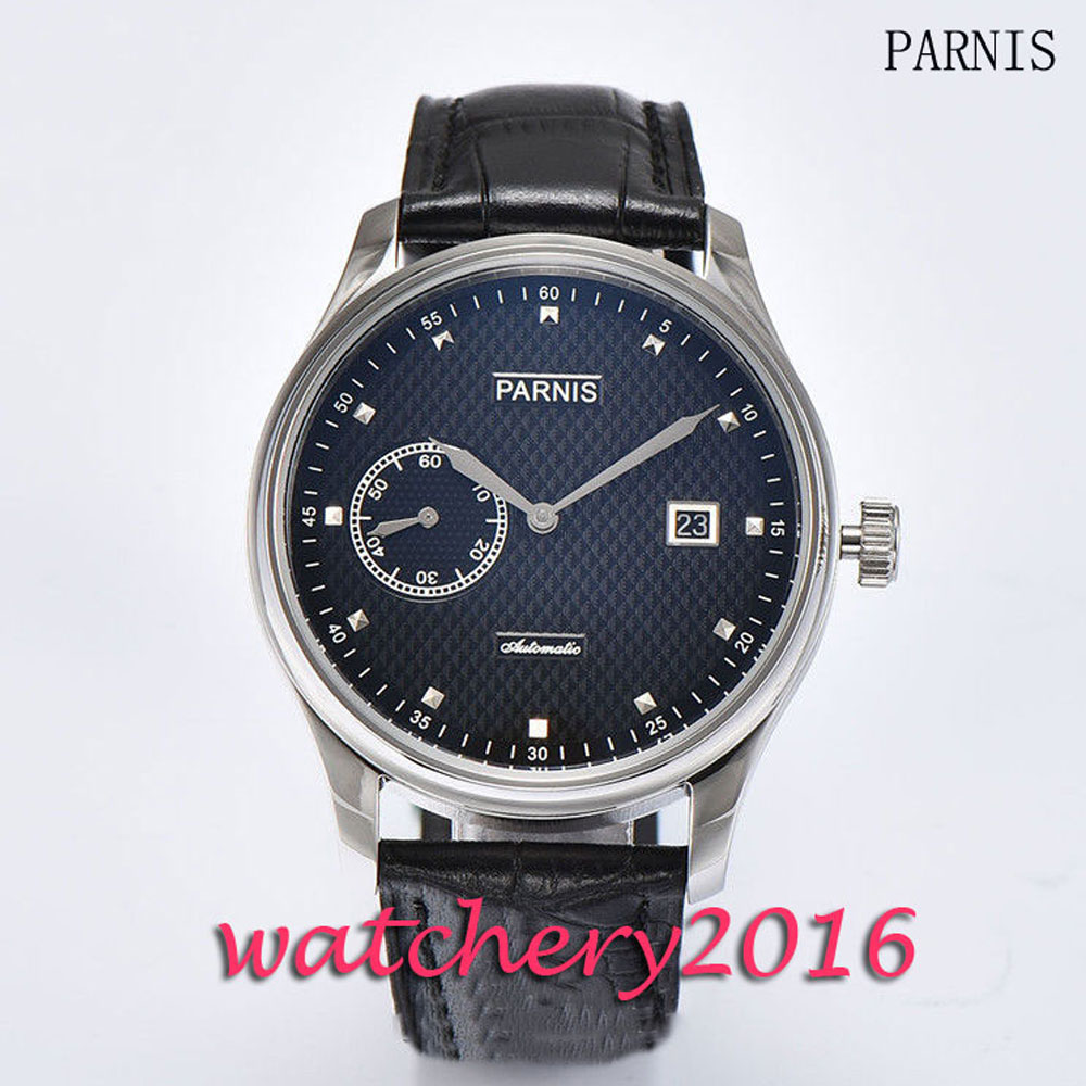 New 43mm Parnis black dial leathre strap men's watches of the famous luxury brand date adjust Automatic movement Men's Watch glucose powder 500 grams of creatine supplements tribulus adjust taste movement branched arginine glucosamine good partner