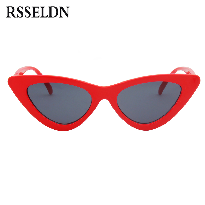 a98dee99f0 Best buy RSSELDN New Cat Eye Sunglasses Women Fashion Brand Designer Mirror Lens  Cateye Sun Glasses For Female Shades UV400 Gafas oculos online cheap