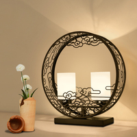Chinese style black table art lamps modern bedroom bedside cabinet lamps and lanterns retro study living room ZA9214