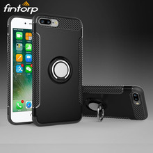 Fintorp Case For iPhone 7 Cases for Apple 6S 5S 8 Plus X Finger Ring Car Magnet Matte XS Max XR Covers