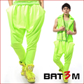 A la moda masculino pantalones casuales neón Harem del color del caramelo de teatro de hombre traje pantalones bailarín del cantante del club nocturno