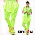 Homens de moda Neon doces calças cor harém casuais calças homens de calças cantor dançarino estágio boate