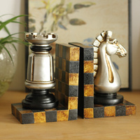 European Country Creative Antique Retro Jewelry Ornaments Home Furnishing Chess Room Became A Bookend Bookends