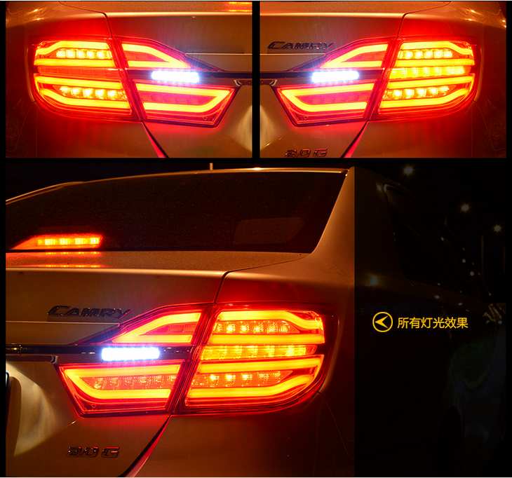 Free shipping Vland Car Tail lamp for Toyota Camry Led Taillight 2015-2016 DRL+Signal+Reverse lamp free shipping vland factory car parts for camry led taillight 2006 2007 2008 2011 plug and play car led taill lights