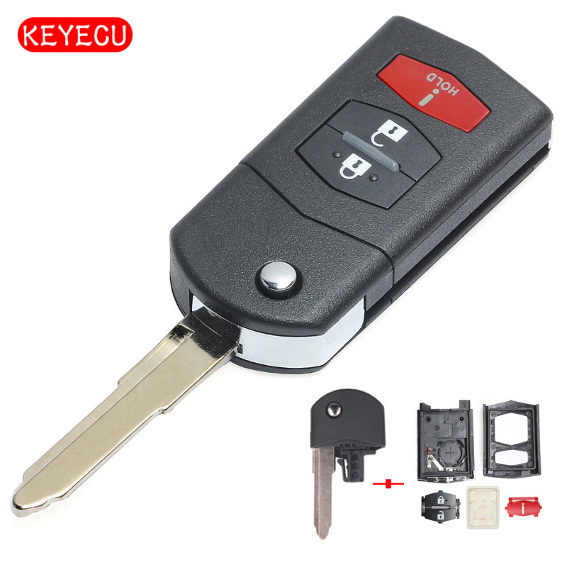 Remote Key Shell fit for MAZDA 3 5 6 Smart Key Case Fob Replace Uncut Key 3 BTN